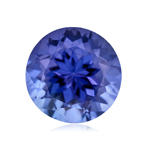 0.95-1.22 Cts of 6.5 mm AAA Round Arusha Tanzanite ( 1 pc ) Loose Gemstone