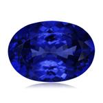 0.91-1.56 Cts of 8x6 mm AAAA ( Heirloom ) Oval Genuine Natural Arusha Tanzanite ( 1 pc ) Loose Gemstone