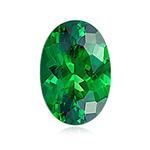 0.98 Cts of 7.4x5 mm AA+ Oval Tanzanian Tsavorite Garnet ( 1 pc ) Loose Gemstone