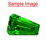 1.10 Cts of 8x5.7x3.9 mm AAA Fancy Cut Tanzanian Tsavorite Garnet ( 1 pc ) Loose Gemstone