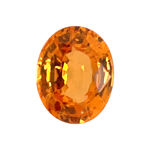 2.14 Cts of 8.25x6.55x4.3 mm VVS Oval Step Cut Tanzanian Spessartite Garnet ( 1 pc ) Loose Gemstone