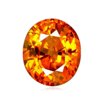 2.41 Cts of 8.1x6.7x5.0 mm SI+ Oval Step Cut Tanzanian Spessartite Garnet ( 1 pc ) Loose Gemstone