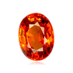 3.06 Cts of 9.4x7.6x4.3 mm SI Oval Step Cut Tanzanian Spessartite Garnet ( 1 pc ) Loose Gemstone
