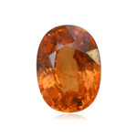 2.67 Cts of 9.1x7.0x4.5 mm SI Oval Step Cut Tanzanian Spessartite Garnet ( 1 pc ) Loose Gemstone