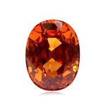 3.72 Cts of 10.8x7.8x4.6 mm SI Oval Step Cut Tanzanian Spessartite Garnet ( 1 pc ) Loose Gemstone