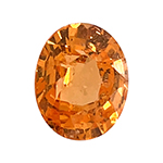 2.46 Cts of 8.4x6.7x4.75 mm SI Oval Step Cut Tanzanian Spessartite Garnet ( 1 pc ) Loose Gemstone