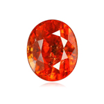 3.46 Cts of 9.75x7.4x4.95 mm SI Oval Step Cut Tanzanian Spessartite Garnet ( 1 pc ) Loose Gemstone
