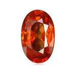 3.48 Cts of 10.3x7.25x5.2 mm SI Oval Step Cut Tanzanian Spessartite Garnet ( 1 pc ) Loose Gemstone