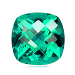 2.20-2.60 Cts of 8 mm AAA Cushion Checker Board Madagascar Apatite ( 1 pc ) Loose Gemstone