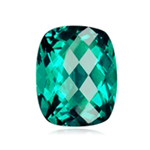 1.80-2.10 Cts of 8x6 mm AAA Cushion Checker Board Madagascar Apatite ( 1 pc ) Loose Gemstone