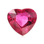 1.73-1.90 Cts of 8 mm AAA Heart Rubellite Tourmaline ( 1 pc ) Loose Gemstone