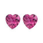 3.20 Cts of 8 mm AAA Heart Natural Pink Tourmaline ( 2 pcs ) Loose Gemstones