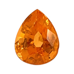 3.24 Cts of 9.6x7.6x5.4 mm AAA Pear Loose Spessartite ( 1 pc ) Loose Gemstone