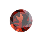 0.50-1.01 Cts of 5x5 mm AAA Round Garnet ( 1 pc ) Loose Gemstone