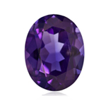 0.79-1.28 Cts of AAA 8x6 mm  Oval Amethyst ( 1 pc ) Loose Gemstone