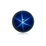 0.89-1.55 Cts of 6 mm Round Cabochon Synthetic German Lab Created Star Sapphire