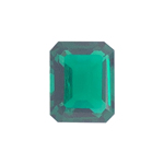 2.57-3.83 Cts of 10x8 mm AAA Emerald-Cut Russian Lab Created Emerald ( 1 pc ) Loose Gemstone