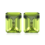 1.80-2.44 Cts of 7x5 mm AAA Emerald Peridot ( 2 pcs ) Loose Gemstones