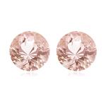 6.47-6.96 Cts of 10 mm AAA Round Morganite Pair ( 2 pcs ) Loose Gemstones