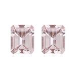 11.60-11.75 Cts of 12x10 mm AAA Emerald Morganite Pair ( 2 pcs ) Loose Gemstones