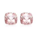 6.85-7.36 Cts of 10 mm AAA Cushion Morganite Pair ( 2 pcs ) Loose Gemstones
