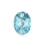 1.59-2.41 Cts of 8x6 mm AAA Oval Natural Blue Zircon ( 1 pc ) Loose Gemstone