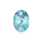 2.01-2.43 Cts of 8.5 x 6.5 mm AAA Oval Natural Blue Zircon ( 1 pc ) Loose Gemstone