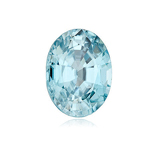 1.68-2.40 Cts of 8.5 x 6.5 mm AA Oval Natural Blue Zircon ( 1 pc ) Loose Gemstone