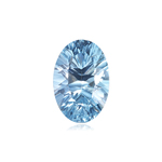 3.00-3.25 Cts of 10x8 mm AAA Oval Concave Sky Blue Topaz ( 1 pc ) Loose Gemstone