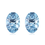 6.00-6.50 Cts of 10x8 mm AAA Oval Concave Sky Blue Topaz ( 2 pcs ) Loose Gemstone