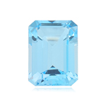 8.25-8.75 Cts of 14x10 mm AAA Emerald Sky Blue Topaz ( 1 pc ) Loose Gemstone