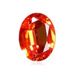 1.93 Cts of 8.1x6.0x4.2 mm AAA Oval  Orangish Reddish Sapphire ( 1 pc ) Loose Gemstone