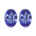 0.40-0.60 Cts of 5x3 mm AA+ Oval Tanzanite ( 2 pcs ) Loose Gemstones