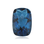 5.67-7.63 Cts of 12x10 mm AAA Cushion Checkered London Blue Topaz ( 1 pc ) Loose Gemstone