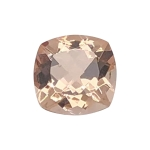 0.78-0.90 Cts of 6 mm AA Cushion Mozambique Morganite ( 1 pcs ) Loose Gemstone