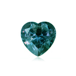 0.93-1.08 Cts of 6 mm AAA Heart Lab created Russian alexandrite ( 1 pc ) Loose Gemstone