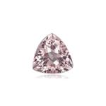0.55-0.65 Cts of 6 mm AA Trillion Morganite ( 1 pc ) Loose Gemstone