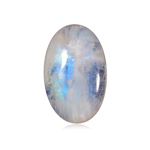 5.94-7.23 Cts of  14x10 mm AA Oval Cabachon ( 1 pc ) Loose Rainbow Moonstone