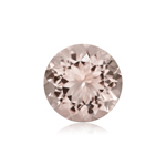 0.53-0.72 Cts of 5.5 mm AA Round Faceted Morganite ( 1 pc ) Loose Gemstone