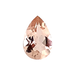 1.00-1.25 Cts of 9x6 mm AAA Pear Faceted Morganite ( 1 pc ) Loose Gemstone
