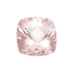 0.80-0.95 Cts of 6 mm AAA Cushion Checkered Morganite ( 1 pc ) Loose Gemstone