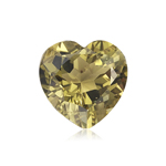 2.90-3.50 Cts of 10 mm AAA Heart Cut Olive Quartz ( 1 pc ) Loose Gemstone