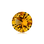 0.92-1.01 Cts of 7 mm AAA Round Fine Machine Cut Citrine ( 1 pc ) Loose Gemstone