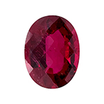 9.36 Cts of 16.5x12.5 mm SI (Slightly Included) Oval Checkered Cut Rubellite Tourmaline ( 1 pc ) Loose Gemstone