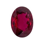 6.70 Cts of 14x10 mm AAA (Slightly Included) Oval Cut Rubellite Tourmaline ( 1 pc ) Loose Gemstone