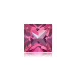1.00-1.35 Cts of 6 mm AAA Square Princess Cut Natural Pure Pink Topaz ( 1 pc ) Loose Gemstone