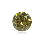 0.27 Cts of 3.95-4.01x2.64 mm GIA Certified Round Brilliant ( 1 pc ) Loose Treated Fancy Intense Greenish Yellow Diamond