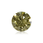 0.29 Cts of 4.23-4.24x2.62 mm GIA Certified Round Brilliant ( 1 pc ) Loose Treated Fancy Yellow Diamond