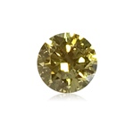0.19 Cts of 3.67-3.68x2.25 mm GIA Certified Round Brilliant ( 1 pc ) Loose Treated Fancy Intense Yellow Diamond