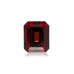 3.00-3.95 Cts of 9x7 mm AA Emerald Cut Sabrina Created Ruby ( 1 pc ) Loose Gemstone